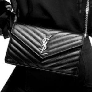 Saint Laurent YSL Cross body Wallet Shoulder Bag